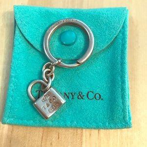 Tiffany T & Co 1837 Lock Keychain